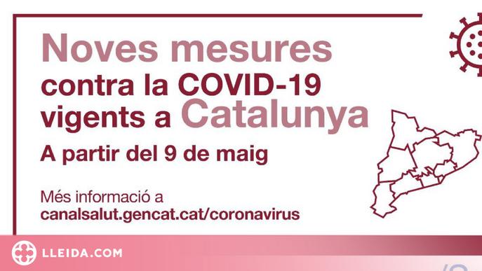 Mesures per a la contenció de la Covid-19 aplicables a partir del 9 de maig a Catalunya