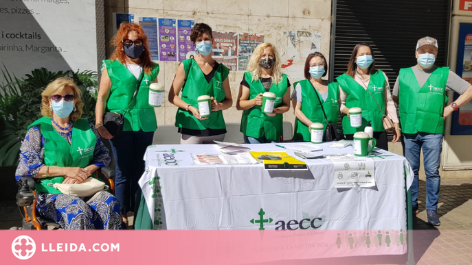 L'AECC Lleida recapta més de 10.000€ en una segona col·lecta anual afectada per la Covid-19