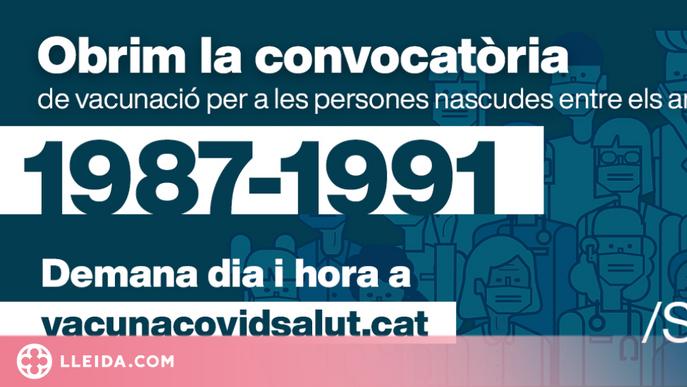 Els ciutadans de 30 a 34 anys poden demanar cita per vacunar-se des d'aquest dilluns