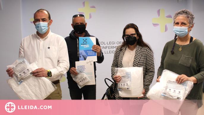 Les Infermeres de Lleida doten el voluntariat de la Xarxa Solidària amb equips de protecció