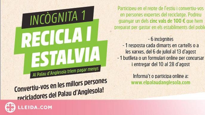 """""""Recicla i estalvia"""", un joc de reciclatge al Palau d'Anglesola"""