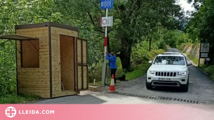 La Val d'Aran instal·la casetes per controlar l'accés dels visitants a espais naturals