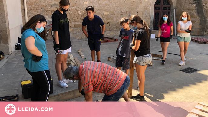 El jovent de les Borges comença a millorar espais del municipi en el primer camp de treball voluntari