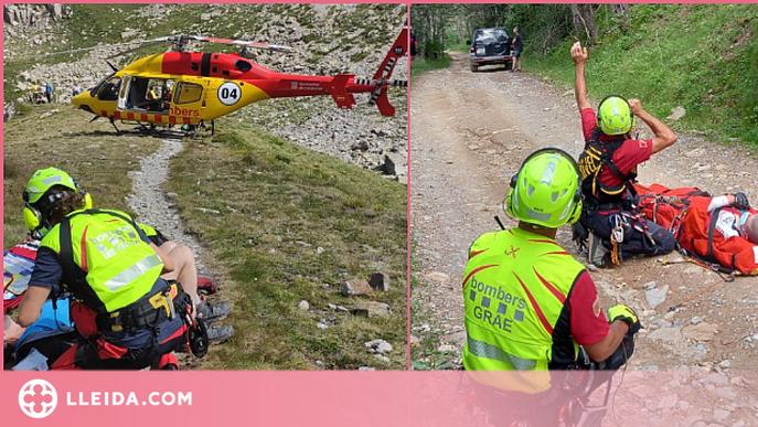 Rescat aeri d'una dona ferida a Espot