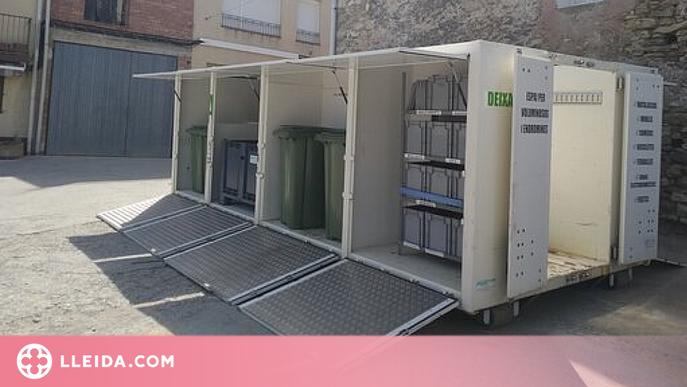 La deixalleria mòbil del Pallars Jussà augmenta la recollida de residus un 90%