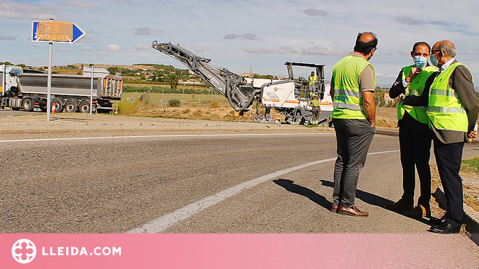 Inicien les obres de renovació del ferm en els accessos a l'A-2 variant de Lleida