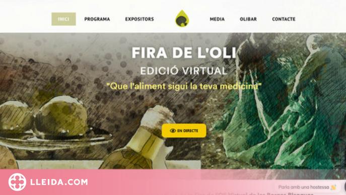 Captura de pantalla del web de la 58a edició de la Fira de l'Oli i les Garrigues