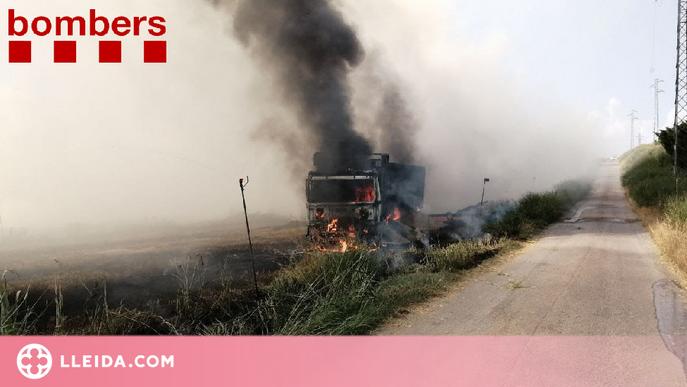 Dos incendis cremen unes 13 hectàrees de camps a Alcarràs i Balaguer