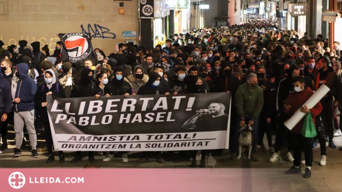 """La plataforma de suport a Hasél reclama no aturar """"l'acció combativa"""""""