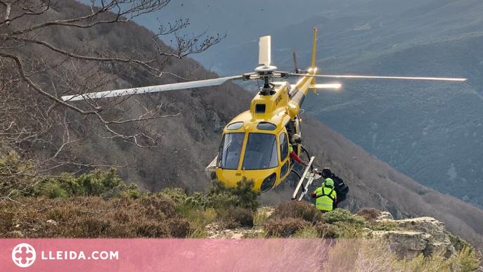 El nou helicòpter de rescat medicalitzat del Pirineu duu a terme mig centenar d'actuacions