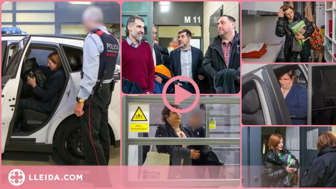 ⏯️ Fan públiques imatges inèdites del trasllat dels presos independentistes a Madrid