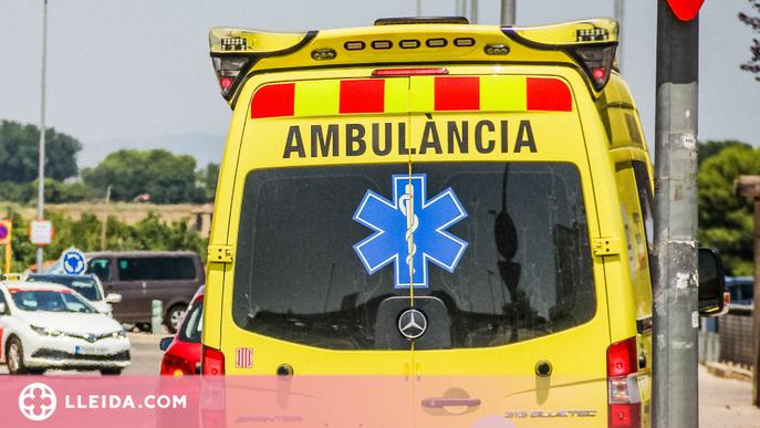 Mor el conductor d'una furgoneta en un xoc frontal amb un camió a l'Alt Urgell