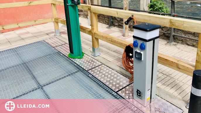 Bossòst instal·la una estació de manteniment i recàrrega de bicicletes