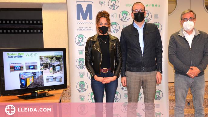 Mollerussa, primera ciutat de l'Estat amb papereres de reciclatge interactives i solars