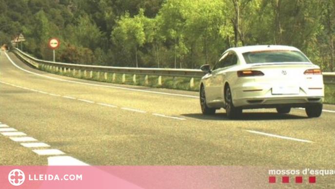 Enxampat circulant a 185 quilòmetres per hora a l'Alt Urgell