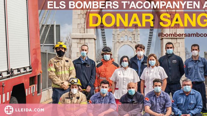 Els Bombers acompanyen més de 5.200 donacions de sang