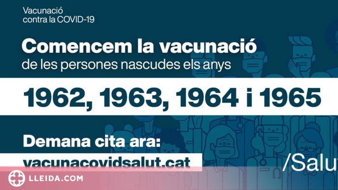 Les persones d'entre 50 i 55 anys ja poden demanar cita per vacunar-se