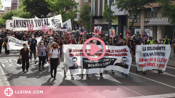 ⏯️ Manifestació a Lleida pels tres mesos de l'empresonament de Hasel