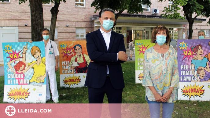 Infermeres i metges lleidatans fan una crida a vacunar-se contra la covid-19