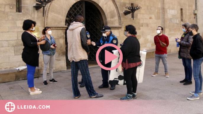 ⏯️ Multa de 300 euros per un acte en defensa dels drets dels temporers durant el confinament