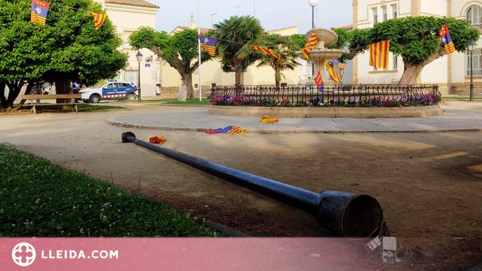 Denuncien múltiples destrosses a l'emblemàtica plaça d'un poble del Segrià