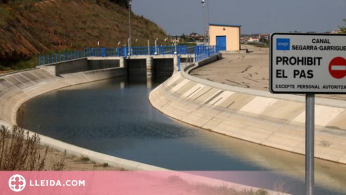 En estat greu un nen que ha estat a punt d'ofegar-se al canal Segarra-Garrigues