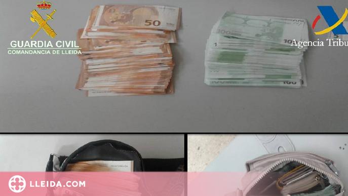 Intervenen prop de 50.000 euros procedents d'Andorra a l'Alt Urgell