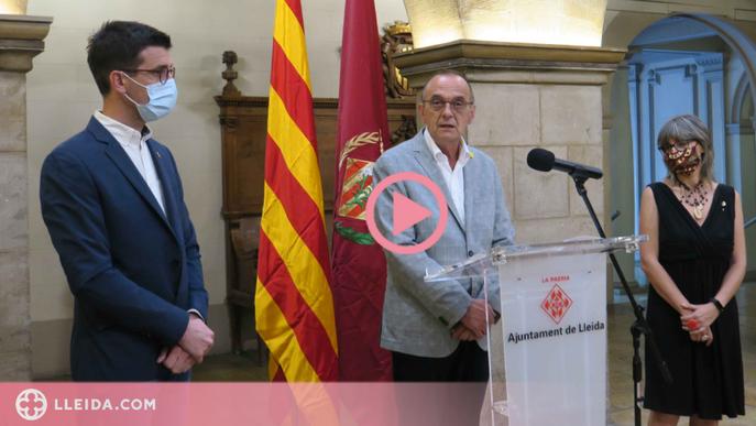 """⏯️ Pueyo demana superar la """"nostàlgia"""" de trencar el tripartit a Lleida i vol garantir l'estabilitat entre ERC i JxCat"""