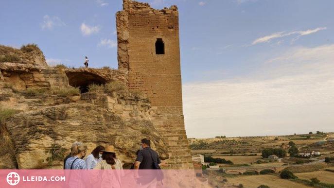 Comencen les obres urgents al castell de Sarroca de Lleida