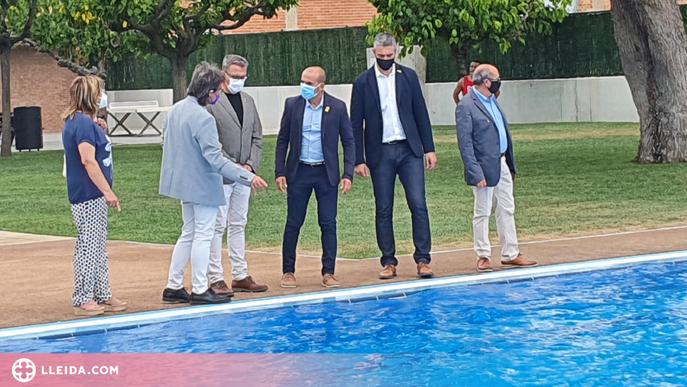 Arbeca inaugura la reforma de les piscines, malmeses pel temporal Dana al 2019