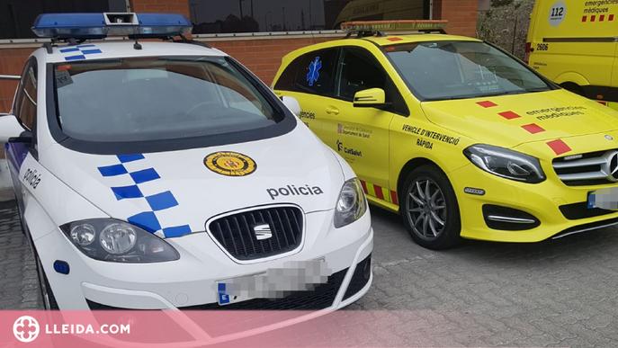 Detingut per clavar diversos cops unes tisores a un company de pis a Lleida