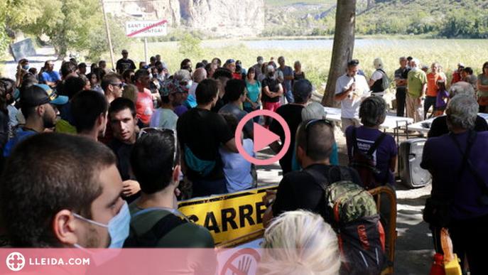 ⏯️ Protestes a Sant Llorenç de Montgai contra les obres a la Paret de l'Os