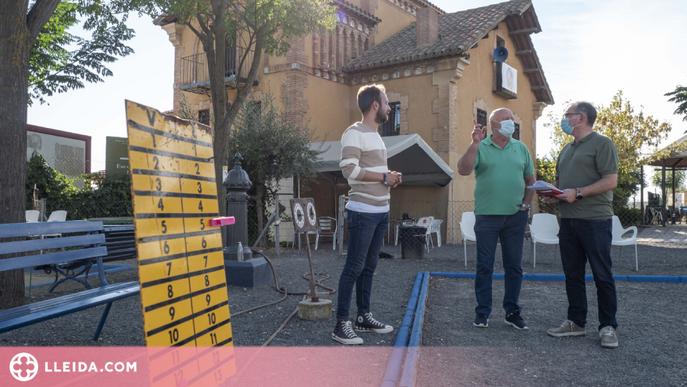 La Paeria millora les pistes de petanca de quatre clubs de Lleida