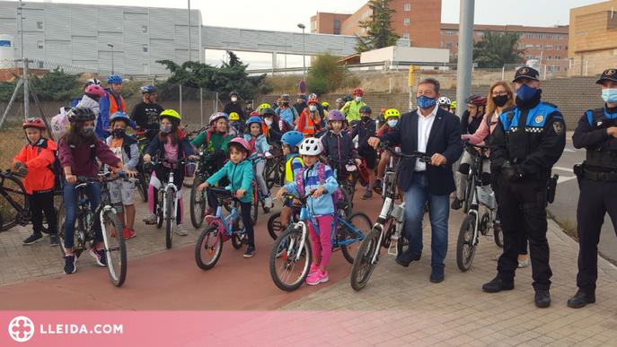 El BiciBús clou la Setmana Europea de la Mobilitat a Lleida