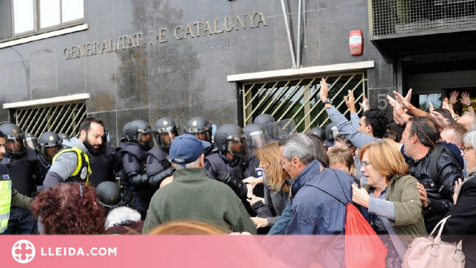 Arxivat el cas per les càrregues policials de l'1-O al col·legi d'Afers Socials de Lleida