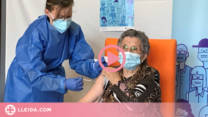 ⏯️ Una residència de Lleida, la primera en rebre la segona dosi de la vacuna