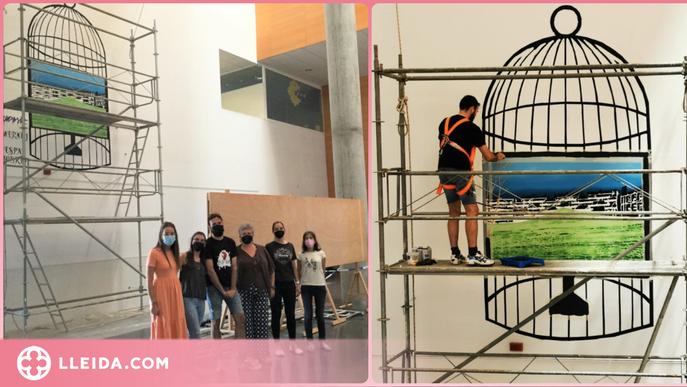 'Reconfiguració', el desig de tornar a les aules fet mural