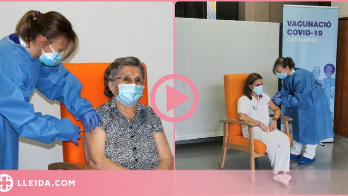 ⏯️ Leocàdia Peña, de 85 anys, primera vacunada de covid-19 a l'Alt Pirineu i Aran