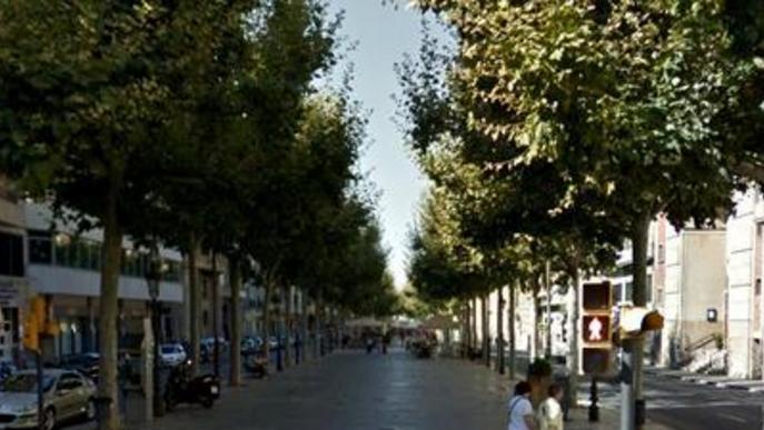 Comencen les obres de pavimentació a la Rambla de Ferran entre els carrers Riquer i Ramon Castejón