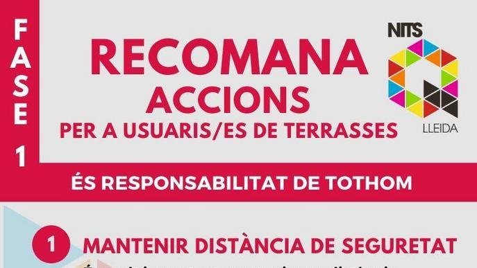 Recomanacions de Nits Q Lleida per a un ús responsable de les terrasses