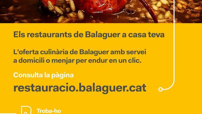 Balaguer crea un web pels restauradors locals que ofereixen menjar per emportar