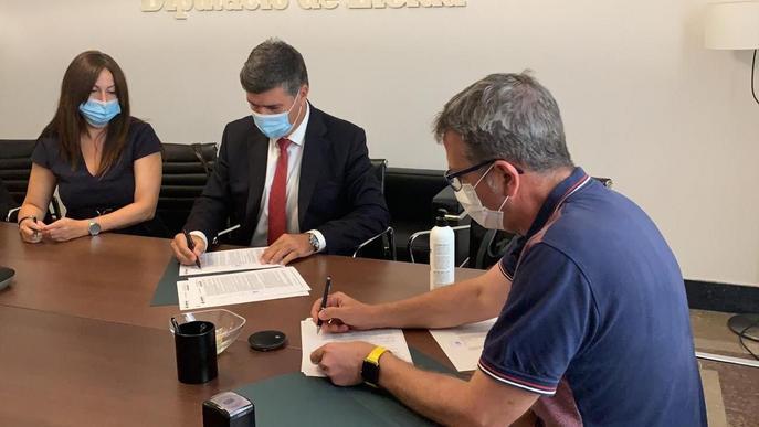 La Diputació de Lleida signa un préstec de 10 M€ destinat a despesa d'inversions per als ajuntaments i EMD