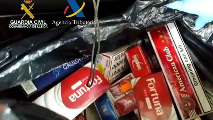 La Guàrdia Civil localitza tabac de contraban valorat en prop de 4.000 euros
