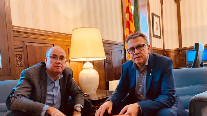 El President de la Diputació rep al nou Director dels Serveis Territorials de Treball, Afers Socials i Families, Vidal Vidal