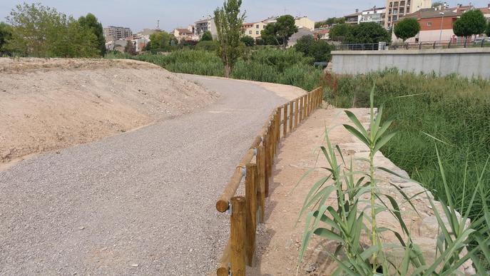 Tàrrega ultima el nou espai de passeig vora la riba del riu Ondara