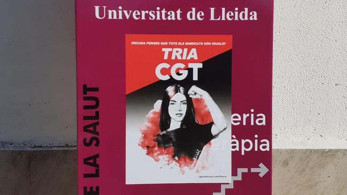 La CGT arriba a la Universitat de Lleida