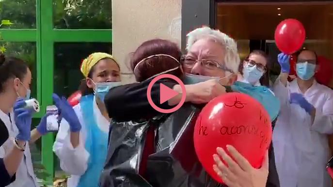 ⏯️ #VÍDEO | Primera alta de coronavirus a l'hotel hospital Nastasi de Lleida