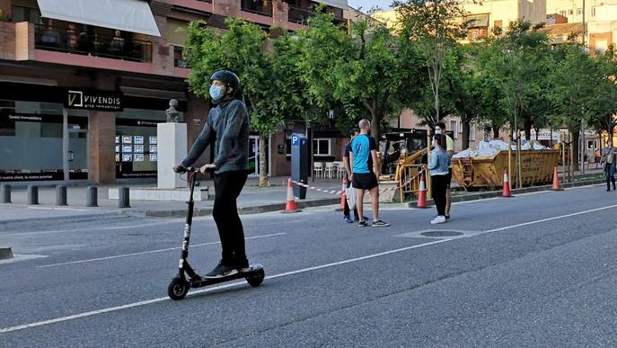 Zona vianants Fleming Lleida patinet elèctric