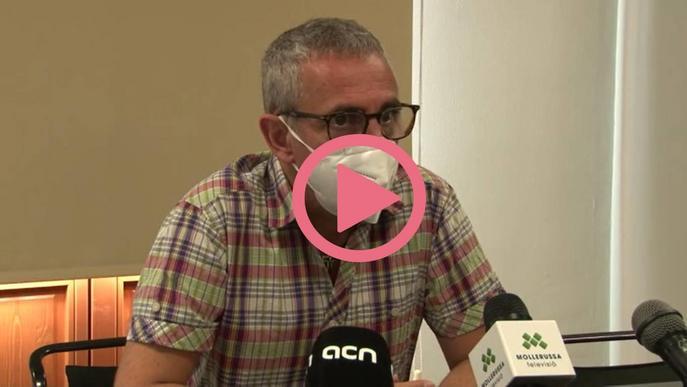 El president del Consell Comarcal del Pla d'Urgell, Rafel Panadés, diu que la situació a la comarca en relació als casos de covid-19 està controlada