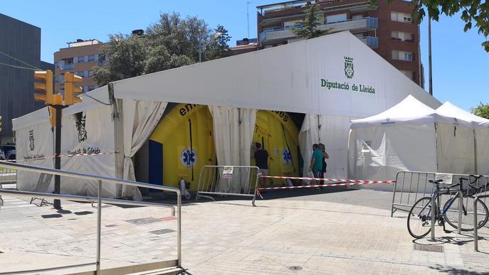 Hospital de campanya CAP Prat de la Riba CUAP